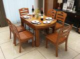 固体木のダイニングテーブルの居間の家具(M-X2913)
