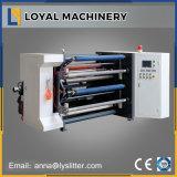 Etiqueta autoadhesiva de corte longitudinal de la máquina de rebobinado automático