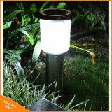 En acier inoxydable Pelouse lumière solaire en plein air à LED pour éclairage de jardin