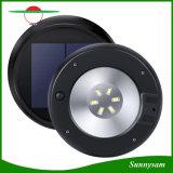 Jardín de Luz LED Solar Sensor de Microondas exterior impermeable ronda 6 LED de pared de luz solar