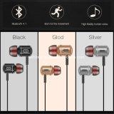 Trasduttori auricolari senza fili di Bluetooth delle cuffie della cuffia avricolare di sport del metallo stereo basso eccellente di Earbuds