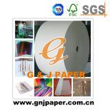 Papier d'emballage de couleur d'auto-collant blanc de cellophane en feuille