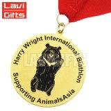 La alta calidad de metal personalizados baratos Soft enamel medalla perro