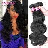 Onda brasileira do corpo do Weave do cabelo do cabelo do Virgin da extensão 100 do cabelo humano de Remy do cabelo de Yvonne