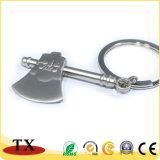 Supporto di tasto del metallo di disegno di modo della catena chiave dell'ascia del metallo