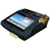 Terminal de la tarjeta de crédito de la posición del programa de lectura de NFC RFID con la huella digital del explorador de código de Qr