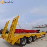 3 rimorchio basso del camion della base di Lowbed di trasporto dell'escavatore degli assi 50ton