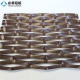 Dekoratives sechseckiges Aluminiumineinander greifen mit Vielzahl-Loch-Formen