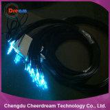 1.0/1.8mm照明のための単心PMMAのプラスチック終わりの白熱光ファイバケーブル