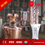 distilleria di rame del POT 500L con la colonna del whisky e la strumentazione di spogliatura di distillazione