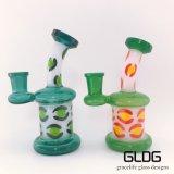 新しいデザインオイルの軽打の装備の再資源業者のガラス配水管、在庫の製造のビーカーのガラス煙る管