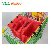 Supermarkt aufbereiteter Polyester-faltbarer Einkaufen-Laufkatze-Beutel