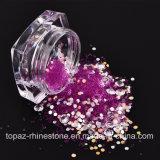 6つのカラーかセットDIYの魅力のマイクロキャビアのビードおよび水晶ラインストーンおよびきらめきのスパンコールの宝石類の釘3Dの釘の芸術の装飾(ND10)