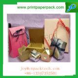 O saco de papel luxuoso e delicado do presente personalizou o saco impresso do perfume do saco de compra do saco da jóia logotipo feito sob encomenda com punho personalizado