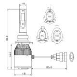 Cnlight Q7-9005 9006 9012 indicatore luminoso potente poco costoso della testa dell'automobile della PANNOCCHIA 4300K/6000K LED