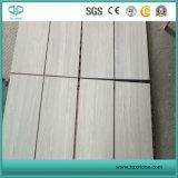 白い木製の静脈、Serpeggianteの白い大理石、木の白い大理石のタイルの平板のモザイク
