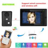 2017 7 pouces moniteur LCD numérique haute définition à la maison d'Intercom soutien Doorphone connexion filaire et sans fil routeur WiFi