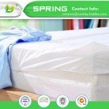 Base elastica bianca della chiusura della chiusura lampo di Encasement della fodera per materassi del Terry Towelling singola