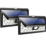 IP65 impermeabilizan la luz solar sin hilos montada en la pared al aire libre del sensor de movimiento de la seguridad PIR del jardín
