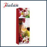Förderung-kundenspezifisches Firmenzeichen-Geschenk-buntes Drucken-einzelner Flaschen-Wein-Kasten