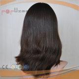 Peluca superior de seda kosher judía del pelo de la Virgen (PPG-l-01546)