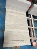 De grijze Houten Marmeren Vloer van de Korrel met Opgepoetste Oppervlakte voor BinnenTegel