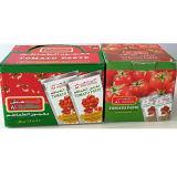 Sachet de 70g de pâte de tomate et étui de pâte de tomate
