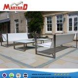 Jardin extérieur durable Hotsale canapé canapé de loisirs en acier inoxydable ensemble canapé d'hôtel
