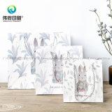 2018 최신 백색 인쇄 선물 종이 봉지 포장