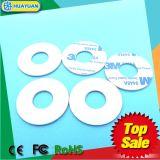 Etiqueta transparente industrial modificada para requisitos particulares del disco del PVC RFID del LF 125kHz TK4100