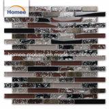 Interorの固体紫色の黒いホテルの縞の石のガラス壁のモザイク