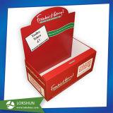 Caja de presentación de encargo de la tapa contraria del papel de la cartulina de la caridad