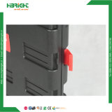 Caixa dobrável de dobramento dos carros do trole do trole Foldable plástico