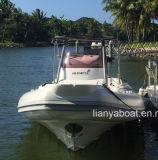 Liya 3.3-8.3m uso militar barco inflável de casco de fibra de vidro para venda