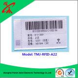 La tela marca la frecuencia ultraelevada con etiqueta RFID con la escritura de la etiqueta de H3/H4/H7 Monza5
