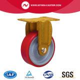 Pivot de la plaque supérieure de 4 pouces PU Roulettes industrielles de roue