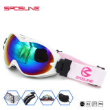 Le logo fait sur commande stigmatise le Snowboard emballant les lentilles reflétées des femmes de Mens de lunettes d'anti lunettes de sûreté UV de moto de ski