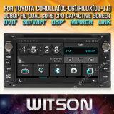 Toyota Corolla 2000를 위한 Witson Windows 접촉 스크린 차 DVD 2006년 Hilux 2001 2011년