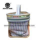 PVC bleu de déplacement 4PCS de Stripes&Transparent place le sac de produit de beauté de shampooing