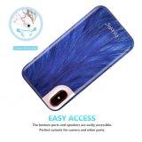 Las series azules de la piel animal de IMD adelgazan la cubierta de goma del silicón de la caja suave clara brillante de los parachoques TPU para el iPhone X de Apple