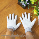 Белой перчатки работы предохранения от полиэфира PU покрынные ладонью белые