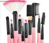 Conjunto de cepillo suave del maquillaje de la fibra del pelo del caballo del conjunto de cepillo de la herramienta del maquillaje del PCS del color de rosa 24