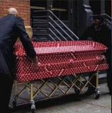 Caixão de funeral mesa móvel com rodas diferentes