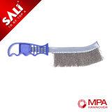 Cepillo de alambre de acero inoxidable con la maneta plástica para la industria usar