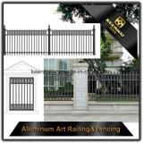 Jardin avec clôture Quality-Assured en aluminium de haute sécurité