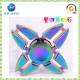 Rainbow Color Hand Spinner Zinc Alloy Metal Fidget Spinner (JP-FS001)