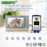 Apartamento novo intercomunicador de porta de vídeo com função de tirar fotografias (PST-VD07R-ID)
