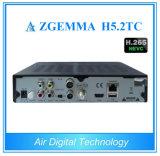 2017 Linux Enigma2 Zgemma H5.2tc Três sintonizadores DVB-S2 + 2X DVB-T2 / C Dual Core Hevc H. 265 Conjunto de cabos Top Box