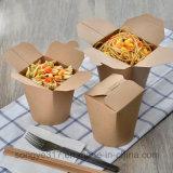 Rectángulo disponible de alto grado de los alimentos de preparación rápida del papel de Brown