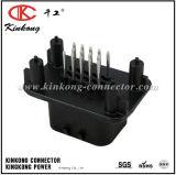 Ampseal Serie 14 Pin-männliche schwarze gerade geformte Zinn-Stifte, mit Flansch-Dichtung Schaltkarte-Automobilverbinder 776262-1